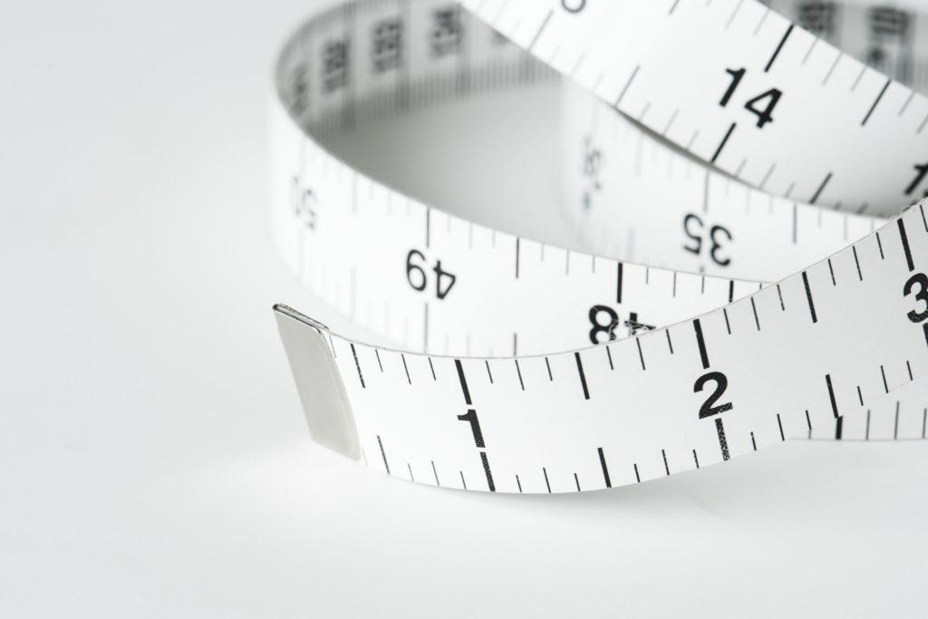 White measurement tape