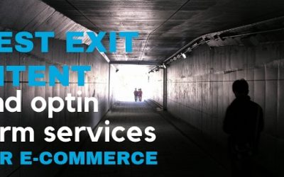 Best exit intent and optin form services for e-commerce