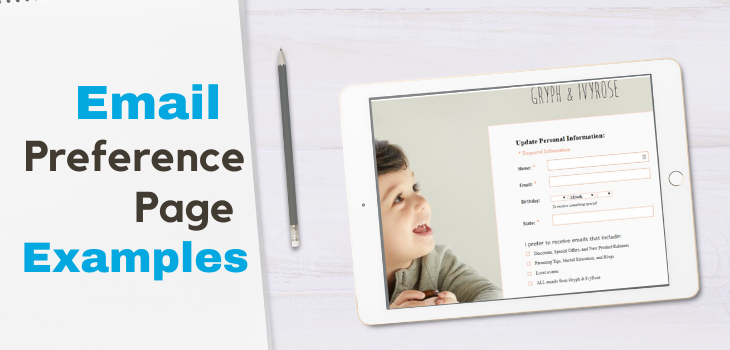 Email Preference Page Examples for online retailers (ecommerce)