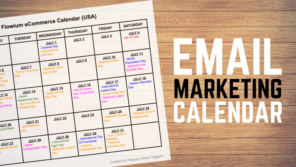 email marketing calendar 2020