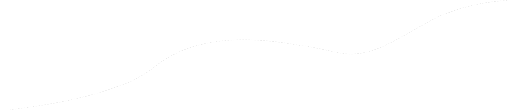 Dotted ascending line