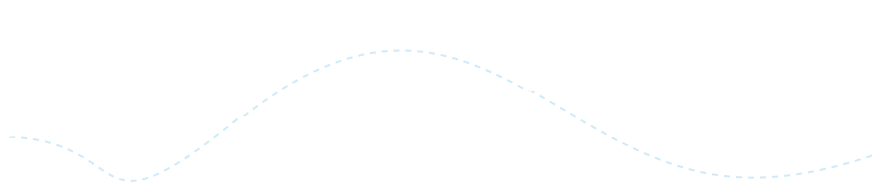 Dashed curved line