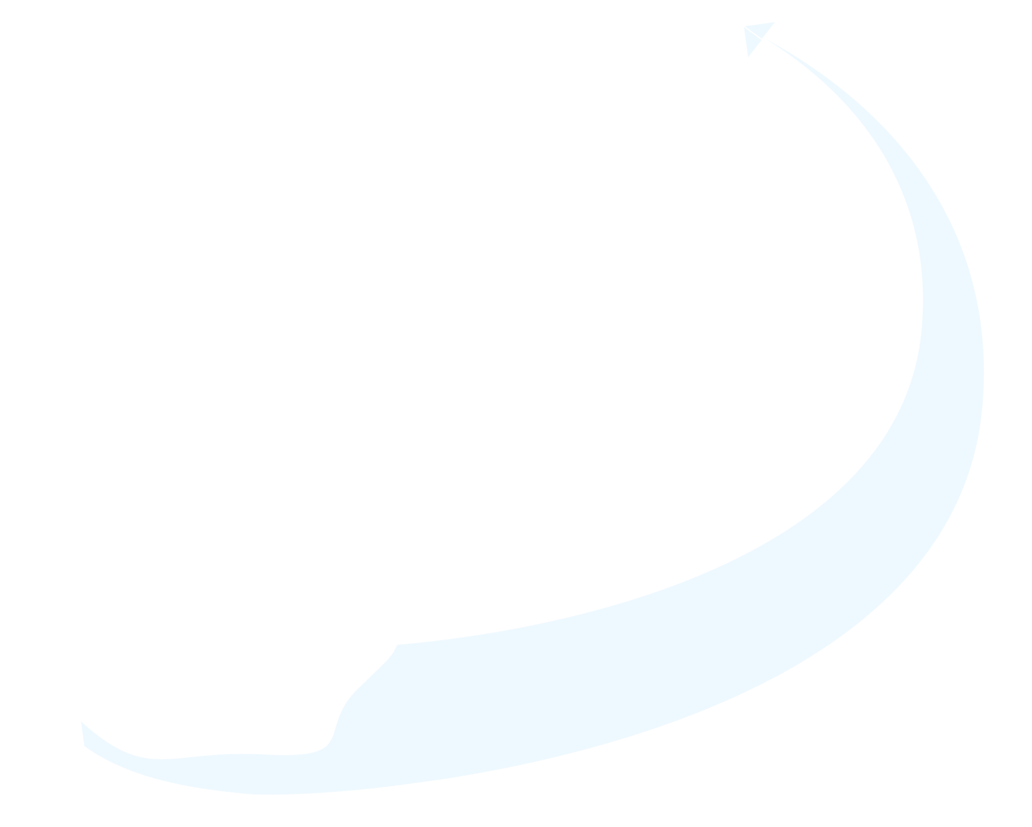 Curved line with a paper airplane at one end