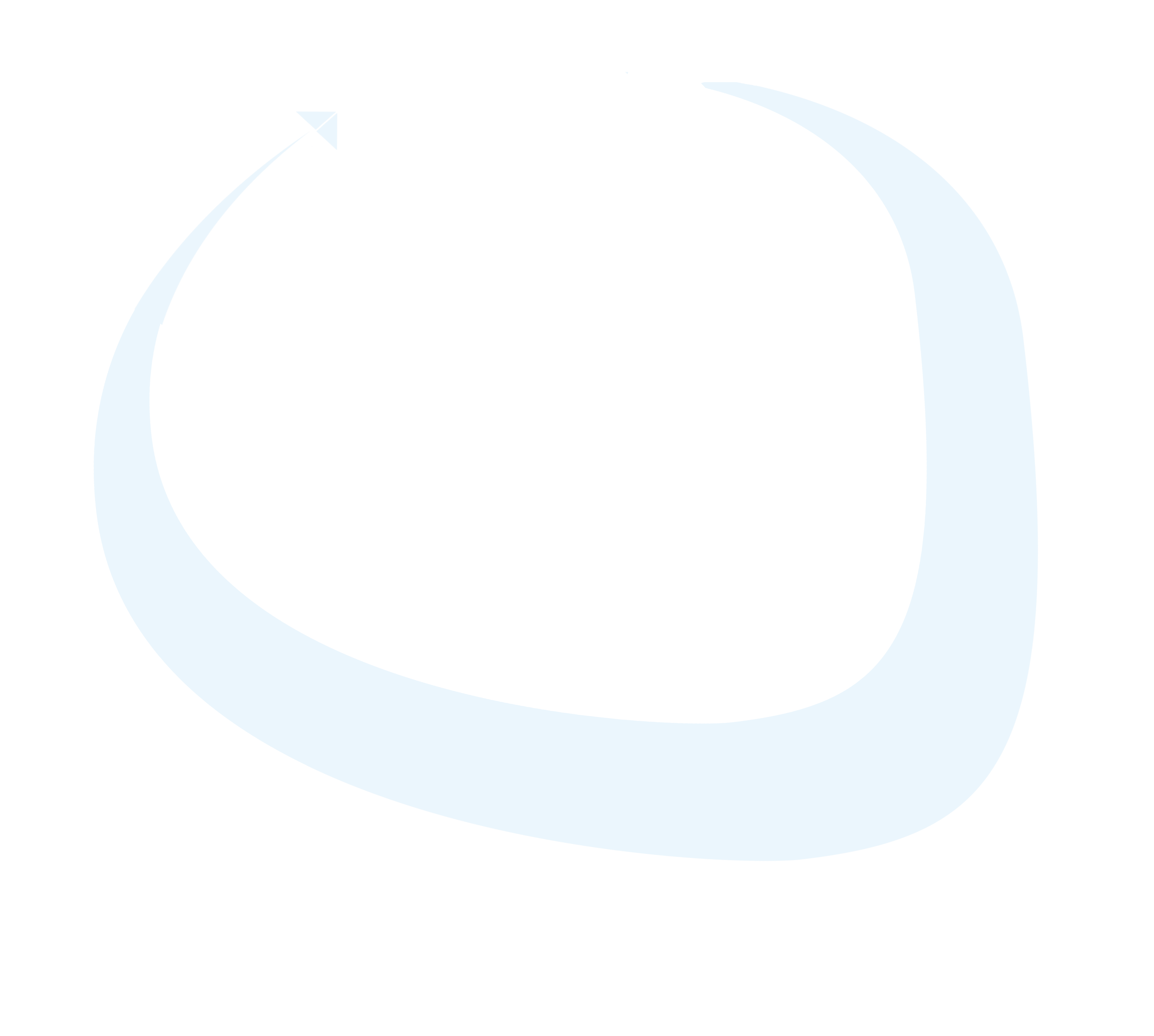 White rounded arrow