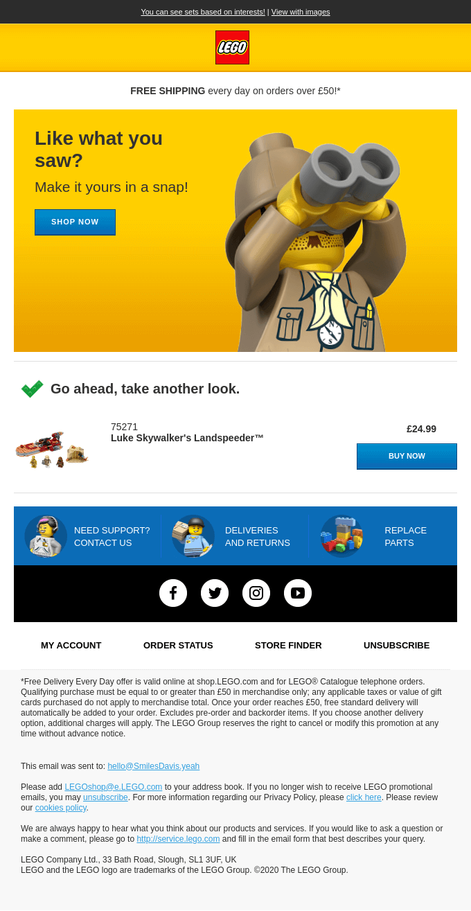 The best timing for an abandoned cart email is one hour after the customer left the website.