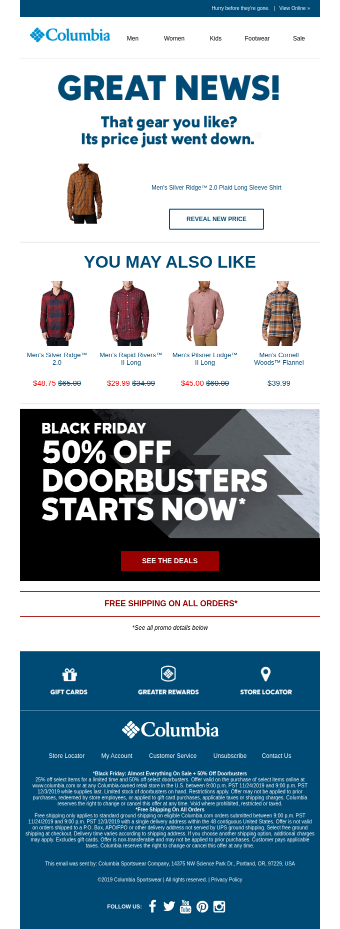 A good example of an abandoned cart email