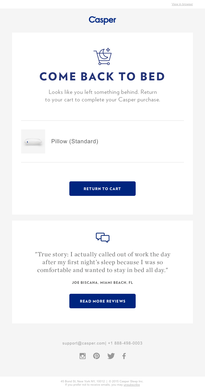 How to convert abandoned carts? With targeted emails.