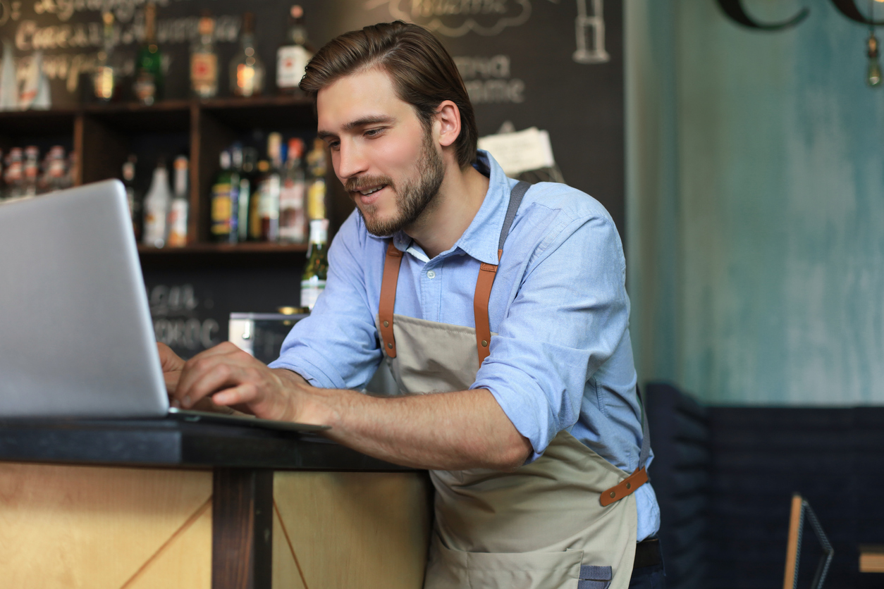 Man choose an email automation software for his small business.